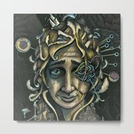 the Storyteller Metal Print