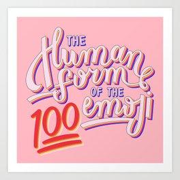 100 Emoji Art Print