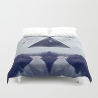 silence of the lambs Duvet Covers featuring silence by Peg Essert