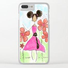Tia, Hey Girl! Clear iPhone Case