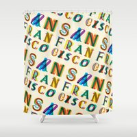 san francisco Shower Curtains featuring San Francisco by Fimbis