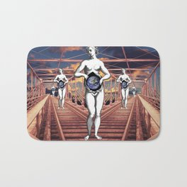 Mother Earth in Perspective Bath Mat