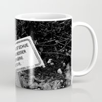 tomb raider Mugs featuring Expired tomb by Gwlad Sas