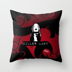 KILLER LADY LOGO ONE  Throw Pillow