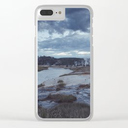 Hot Springs, Yellowstone Clear iPhone Case