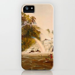 Junction Of The Kundanama Illustrations Of Guyana South America Natural Scenes Hand Drawn iPhone Case