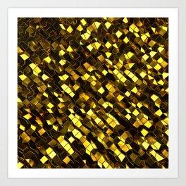 Golden Polgons 03 Art Print