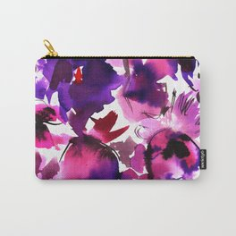 Sara Floral Pink Carry-All Pouch