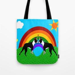 Boston Terrier Unicorn Love Tote Bag