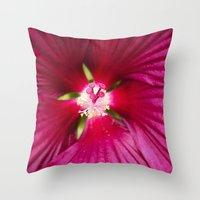 hibiscus Throw Pillows featuring Hibiscus by Christina Rollo