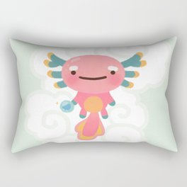 Umpearl - Axolotl with magic pearl Rectangular Pillow