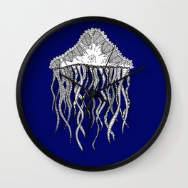 Blue Jellyfish Wall Clock
