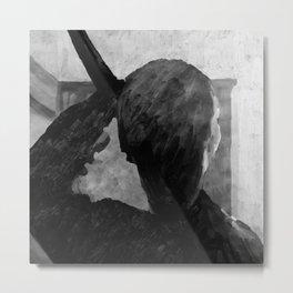 Psycho shower curtain Metal Print