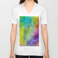 poop V-neck T-shirts featuring Unicorn Poop by Andrea Gingerich