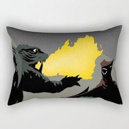 Gamera vs. Gyaos Rectangular Pillow