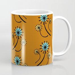 Mid Century Modern Dandelions on orange Coffee Mug