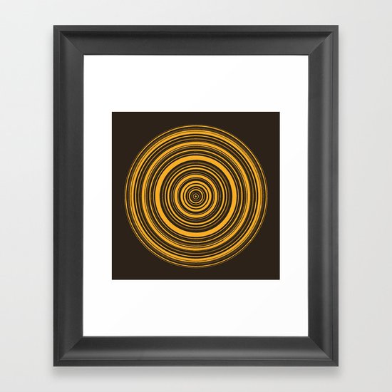 Orbis (On Brown) Framed Art Print