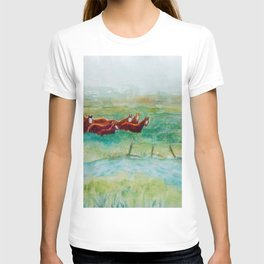 Wild Horse Band by Creek watercolor by CheyAnne Sexton T-shirt