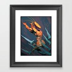 MasterLobster Framed Art Print