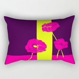 Neon Poppies #society6 #poppies Rectangular Pillow