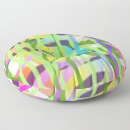 Multicolor Seagrass DESIGN PATTERN Floor Pillow