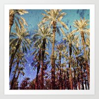 palm trees Art Prints featuring Palm Trees by Loveurstyle
