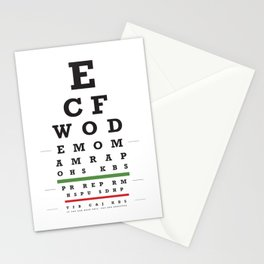Crossfit chart Stationery Cards