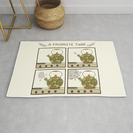 A Favorite Tune - Whistling Tea Kettle Rug