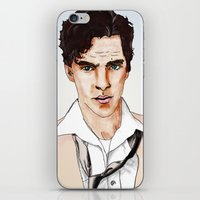cumberbatch iPhone & iPod Skins featuring Benedict Cumberbatch by Alisha Henry