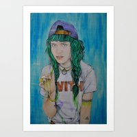 grimes Art Prints featuring Grimes by Jenn