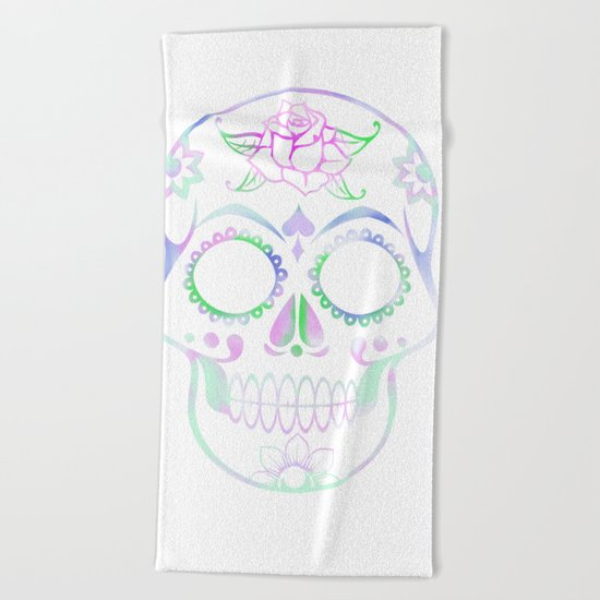Love Skull (Pastel) Beach Towel