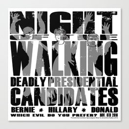 The Walking Presidential Candidates (all over) by Jeronimo Rubio 2016 Canvas Print