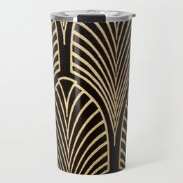 Art nouveau Black,bronze,gold,art deco,vintage,elegant,chic,belle époque Travel Mug