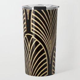 Art nouveau Black,bronze,gold,art deco,vintage,elegant,chic,belle époque Travel Mug
