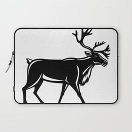Caribou Walking Side Retro Laptop Sleeve