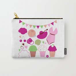 Summer vintage Icons : pink Carry-All Pouch