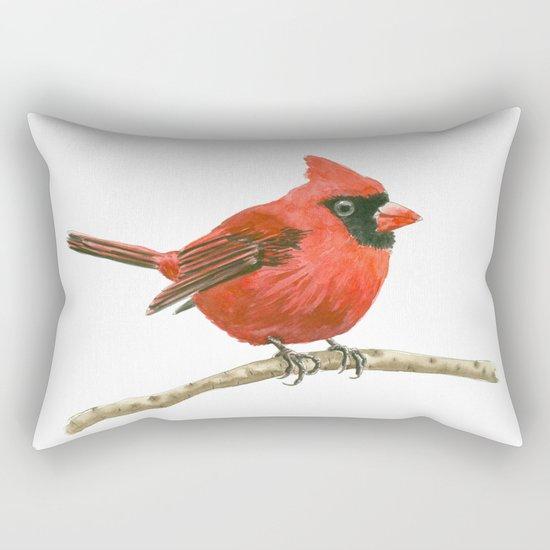 Cardinal bird Rectangular Pillow