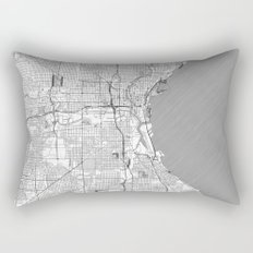 Milwaukee Map Line Rectangular Pillow