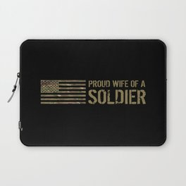 Proud Wife of a Soldier Laptop Sleeve