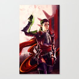 Dragon Age Inquisition - Cleo the human rogue Canvas Print