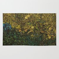 green arrow Area & Throw Rugs featuring Green Arrow  by MelissaMoffatCollage