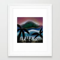 paradise Framed Art Prints featuring Paradise by ShaylahLeigh