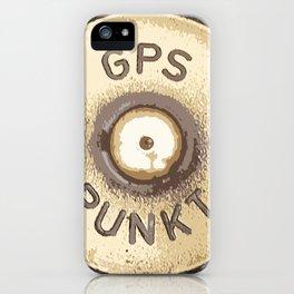 GPS PUNKT iPhone Case