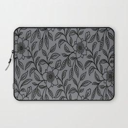 Vintage Lace Floral Sharkskin Laptop Sleeve