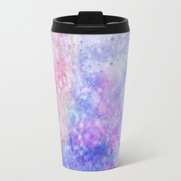 Abstract pink blue ultraviolet hand painted watercolor pattern Travel Mug