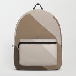 Brown Taupe Chevron Stripes Backpack