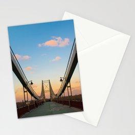 Pedestrian bridge in Kiev Stationery Cards