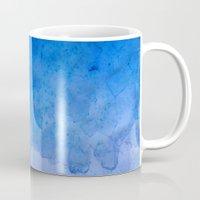salt water Mugs featuring Blue Salt Crystal Surf by LacyDermy