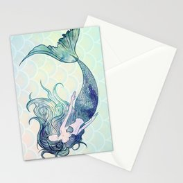 Watercolor Mermaid Stationery Cards