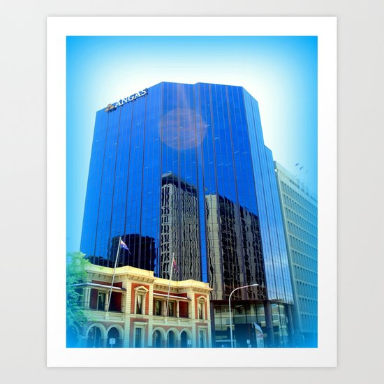 City Skyscapers Reflectivity Art Print